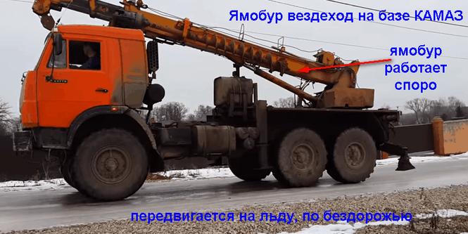 Аренда ямобура на базе КАМАЗ (вездеход)